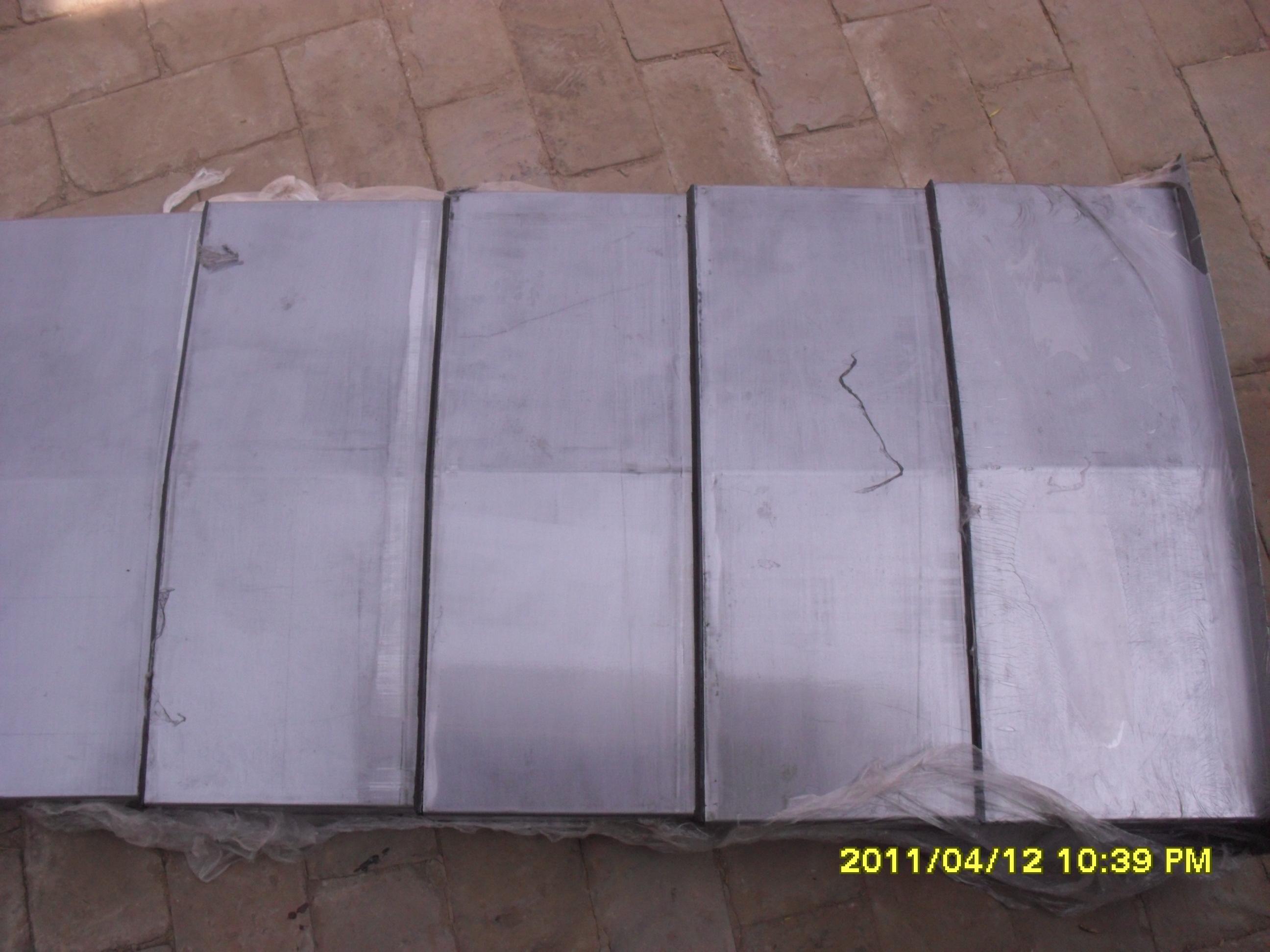 钢板 不锈钢板机床导轨防护罩设计参数一