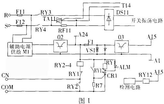 可控硅ta11为开关振荡电路的整流桥ds11提供220v交流