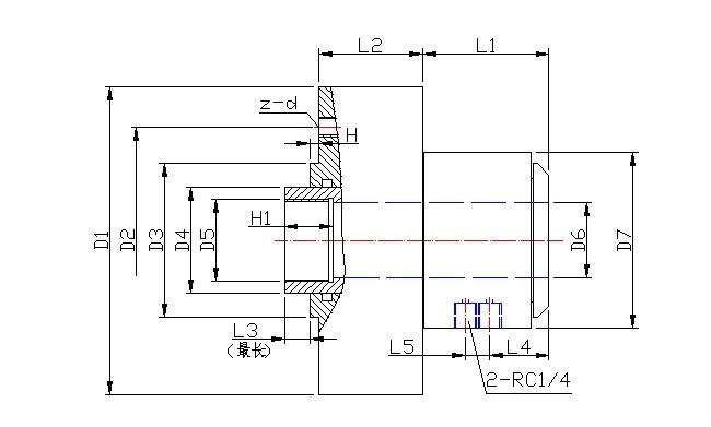 单作用气缸结构图