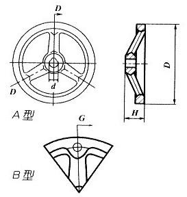铸铁手轮平面图