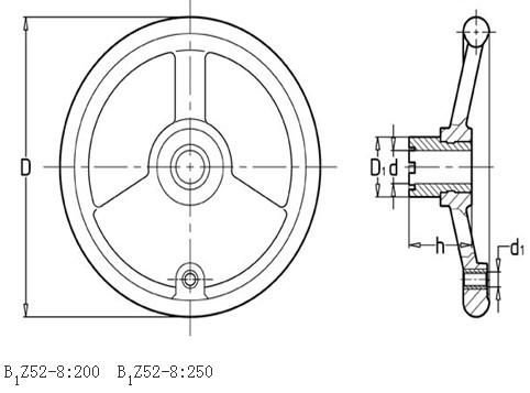 铣床手轮平面图