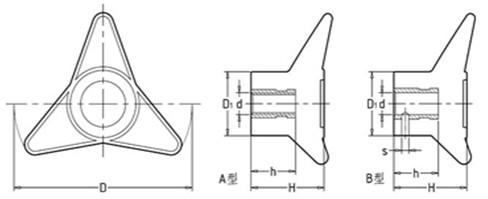 三角箭型把手平面图