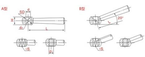锥柱手柄平面图