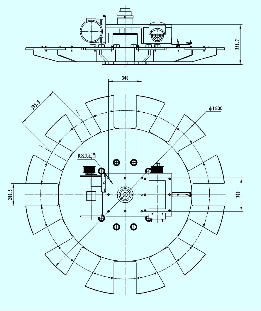 采用圆柱凸轮分度机构,分度更准确.